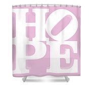 Hope Inverted Pink Shower Curtain