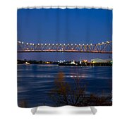 Horace Wilkinson Bridge Shower Curtain
