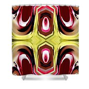Horizon Abstract Shower Curtain