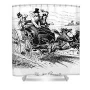 Horse-drawn Carriage Shower Curtain