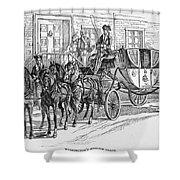 Horse-drawn Coach Shower Curtain