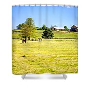 Horse Farm  Shower Curtain