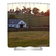 Horse Farm Sunset Shower Curtain