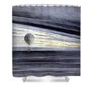 Hot Air Balloon, 1875 Shower Curtain