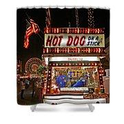 Hot Dog On A Stick Shower Curtain