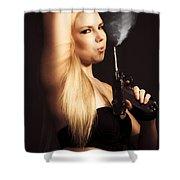 Hot Shot Woman Shower Curtain
