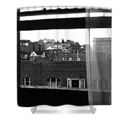 Hotel Window Butte Montana 1979 Shower Curtain