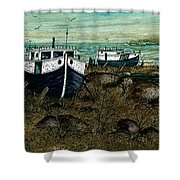 House Boats Shower Curtain