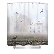 House In Fog Shower Curtain