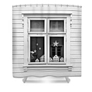 Houses And Windows Shower Curtain