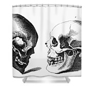 Human Skull Shower Curtain