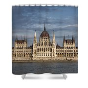 Hungarian Parliament Building Afternoon Shower Curtain