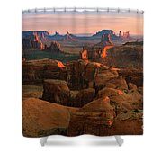 Hunts Mesa In Monument Valley Shower Curtain