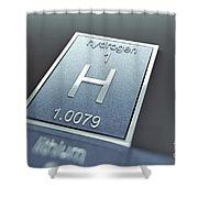 Hydrogen Chemical Element Shower Curtain