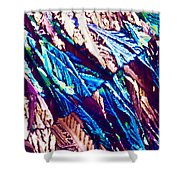 Hydroquinone Crystals In Polarized Light Shower Curtain