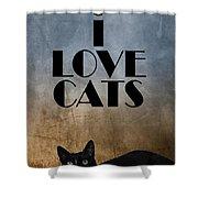 I Love Cats Shower Curtain