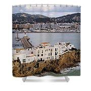 Ibiza Town Shower Curtain