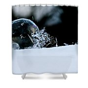 Ice Aged Shower Curtain