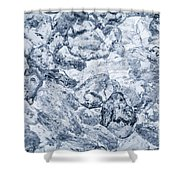 Ice Background Shower Curtain