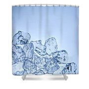 Ice Background With Copyspace Shower Curtain