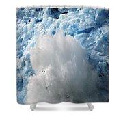 Ice Falling Off Glacier Alaska Shower Curtain