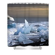 Ice In The Sea Shower Curtain