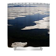 Ice On Yellowstone Lake Shower Curtain