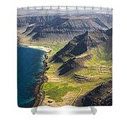 Iceland Plateau Mountains Shower Curtain