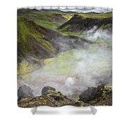 Iceland Steam Valley Shower Curtain