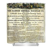 Illinois Railroad Company Shower Curtain