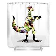 Illustration Of An Iguanodon Shower Curtain