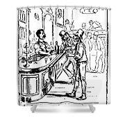 Immigrants: Irish, C1885 Shower Curtain