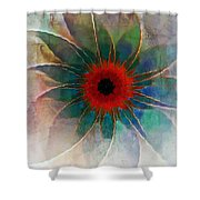 In Glass Shower Curtain