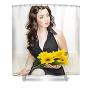 In Love And Waiting Shower Curtain