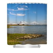 Port Of Call Shower Curtain