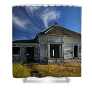 In Ruin Shower Curtain by Mike  Dawson