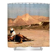 In The Desert Shower Curtain by Jean-Leon Gerome