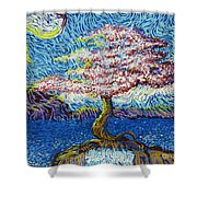 In The Flow Of Life Shower Curtain