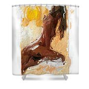 In The Heat Of The Sun Shower Curtain