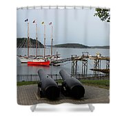 In The Line Of Fire Shower Curtain