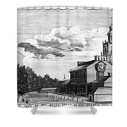 Independence Hall, 1778 Shower Curtain
