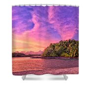 Indian Ocean Sunset Shower Curtain