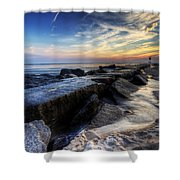 Indian River Inlet Sunrise Shower Curtain