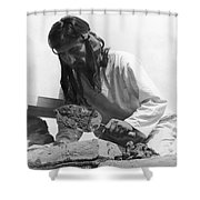 Indians Building Missions Shower Curtain