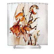 Ink_r5 Shower Curtain