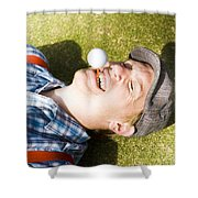Insane Sport Nut Crazy About Golf Shower Curtain