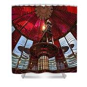 Interior Of Fresnel Lens In Umpqua Lighthouse Shower Curtain