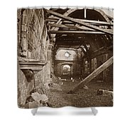 Interior Of Old Mission Church At Carmel Mission California  Circa 1880 Shower Curtain
