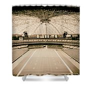 Interior Of The Old Astrodome Shower Curtain