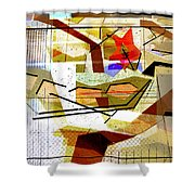 Interstate 10- Exit Out West- Where Life Begins New- Rectangle Remix Shower Curtain